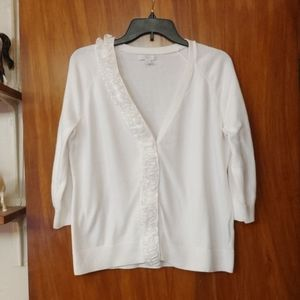 NY&CO white cardigan w/cute details. See pics!